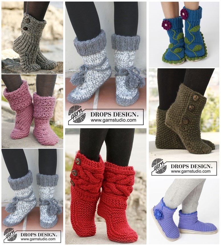 Diy 8 Knitted Crochet Slipper Boots Free Patterns