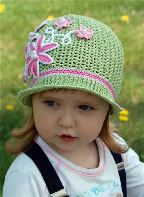 DIY Crochet Pretty Panama Hat for Girls - Cool Creativities