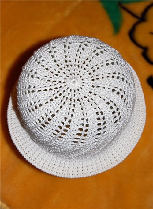 Free Crochet Pattern For Panama Hats : DIY Crochet Pretty Panama Hat for Girls - Cool Creativities
