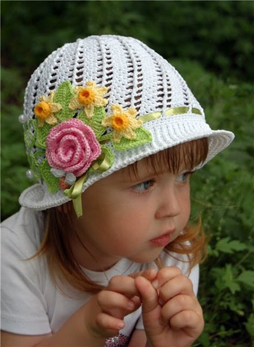 Crochet Pattern Hat Girl : Cool Creativity ? DIY Crochet Pretty Panama Hat for Girls