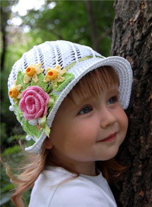 Cool Creativity ? DIY Crochet Pretty Panama Hat for Girls