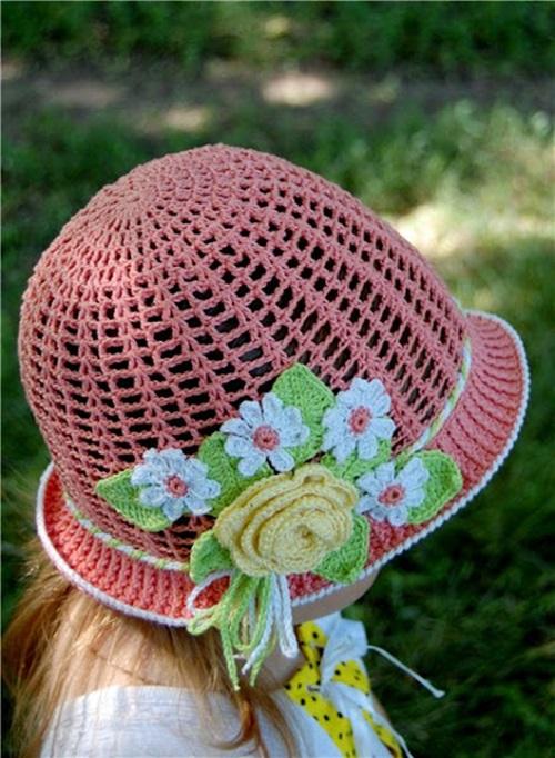 Free Crochet Pattern For Panama Hats : Cool Creativity ? DIY Crochet Pretty Panama Hat for Girls