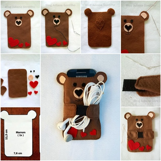 371237398eccbf DIY Cute Felt Cell Phone Case