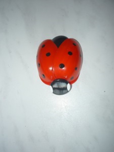 diy cute ladybug with plastic spoon