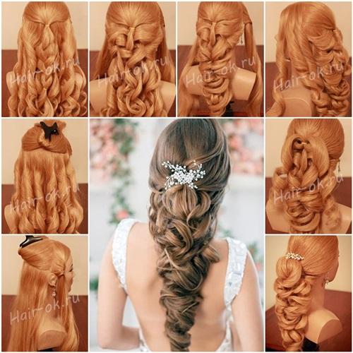 DIY Elegant Braided Curls Hairstyle
