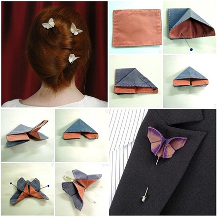 Fabric Origami Butterfly diy-fabric-origami-butterfly