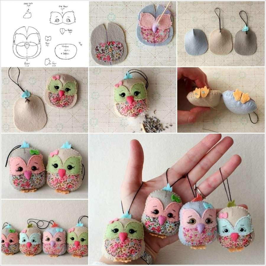 DIY Cute Felt Owl Lavender Sachet with Template
