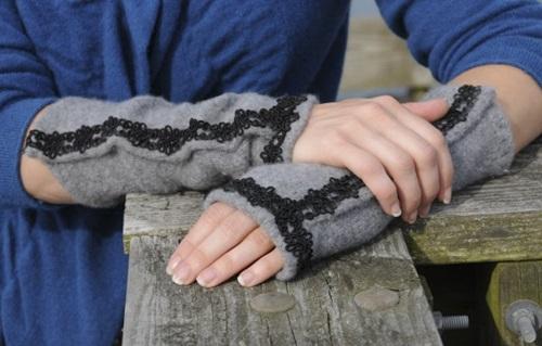 Fingerless Gloves From Old Sweater