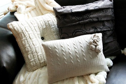 Sweater Pillows from old sweater
