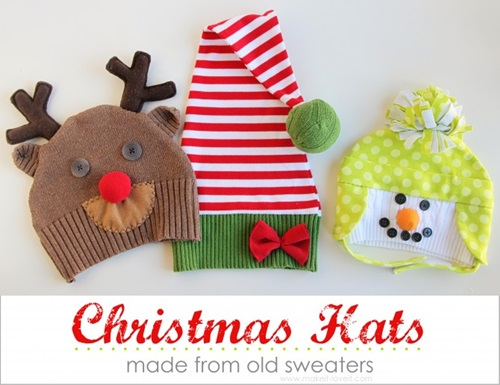 easy and cuddly diy ideas for recycling old sweater snowman reindeer