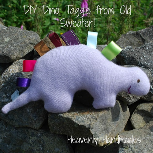 DIY Taggie Dino from an Old Sweater