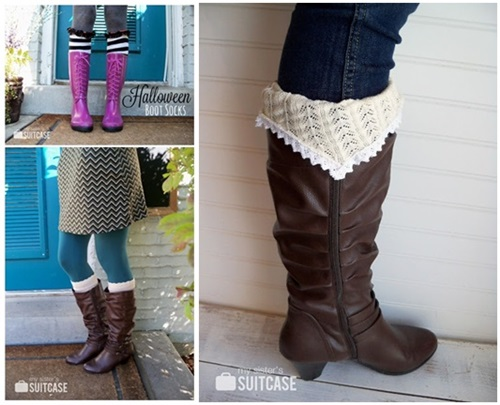 Make Boot Socks from old sweater