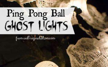 DIY Ping Pong Ball Ghost Lights