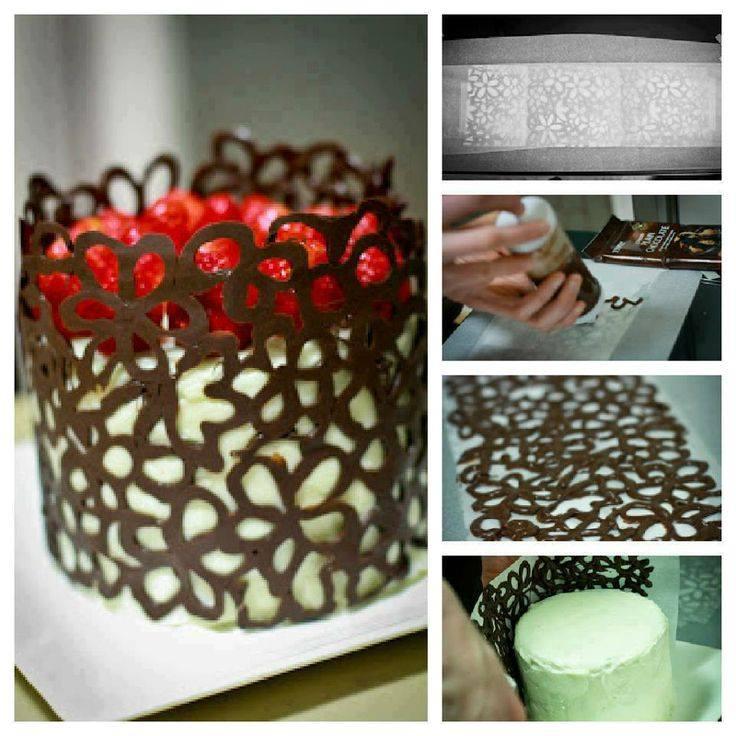 Chocolate lace cake