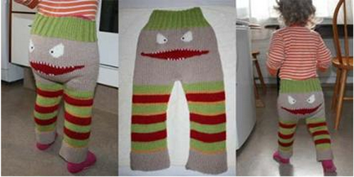 DIY Knit Monster Pants With Patterns