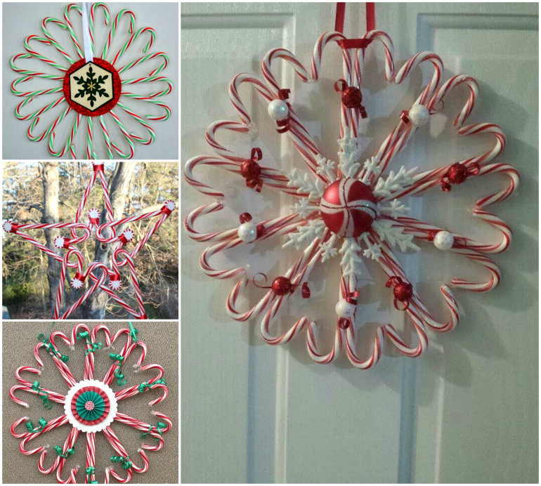 DIY Candy Cane Christmas Wreath
