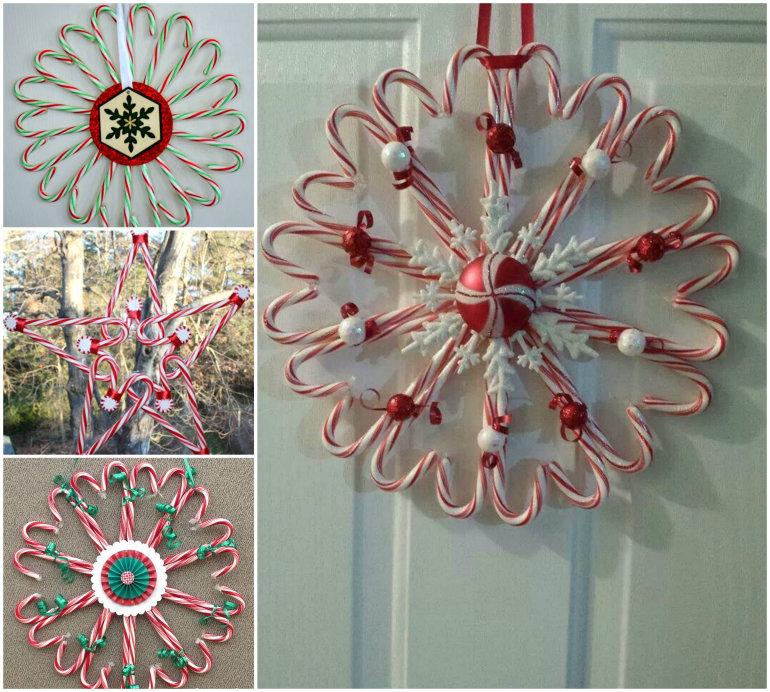 DIY Candy Cane Christmas Wreath -
