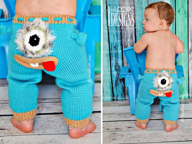 DIY Knit Monster Pant With Pattern