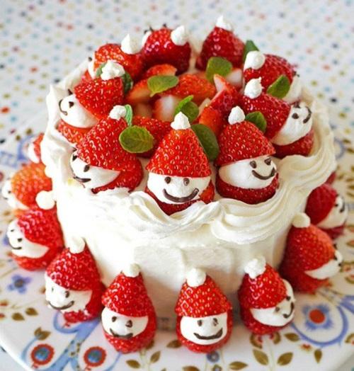 Adorable Strawberry Santa Cake