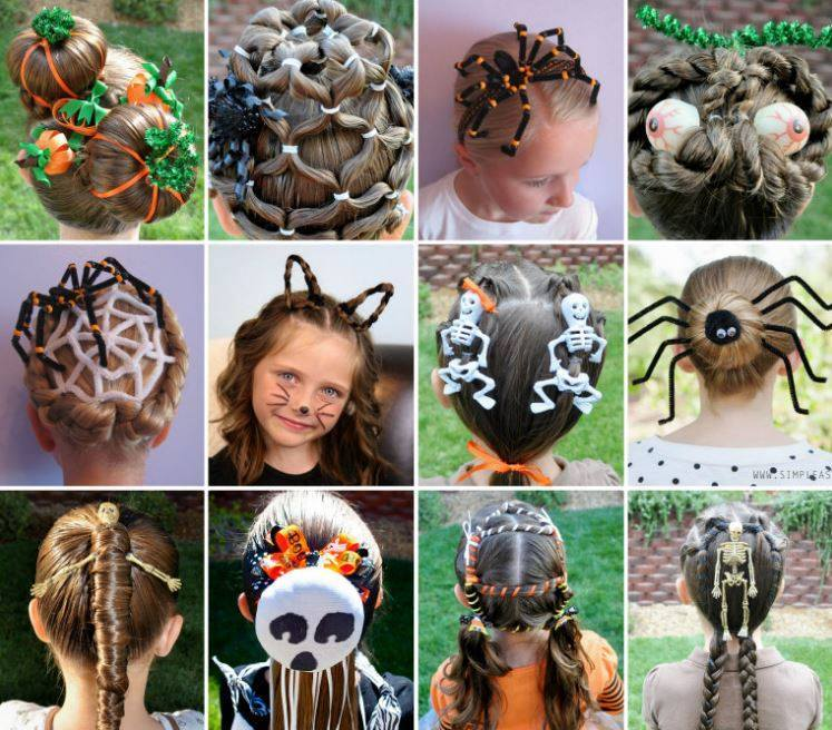 Creative DIY Halloween Hairstyles