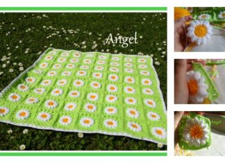 Crochet Daisies Flower Blanket Free Pattern