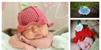 DIY Adorable Crochet Baby Bluebell Hats