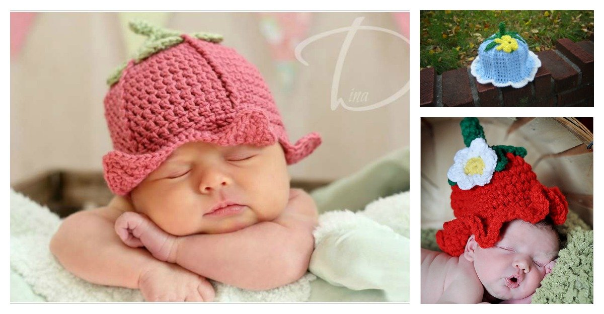 Adorable Crochet Baby Bluebell Hats