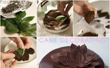 Leaf Chocolate Cake