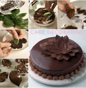 Leaf Chocolate Cake
