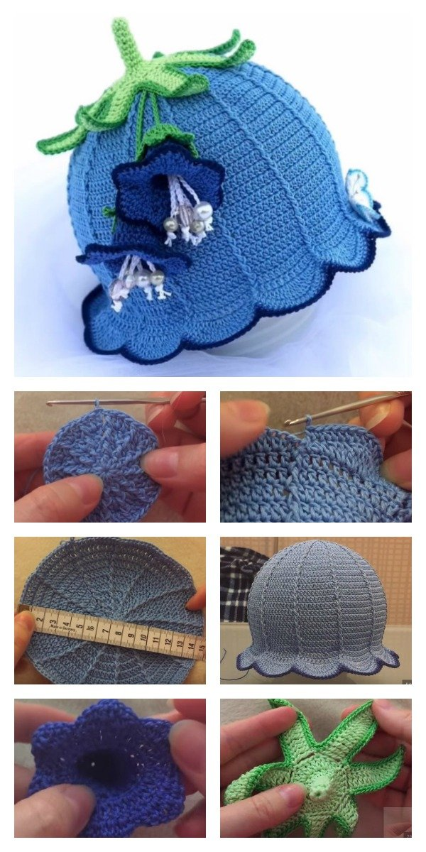 How to Crochet Bluebell Baby Hat