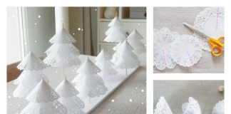 DIY Paper Doilies Christmas Tree Craft