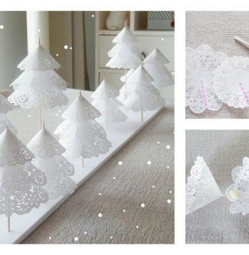 DIY Paper Doilies Christmas Tree Craft