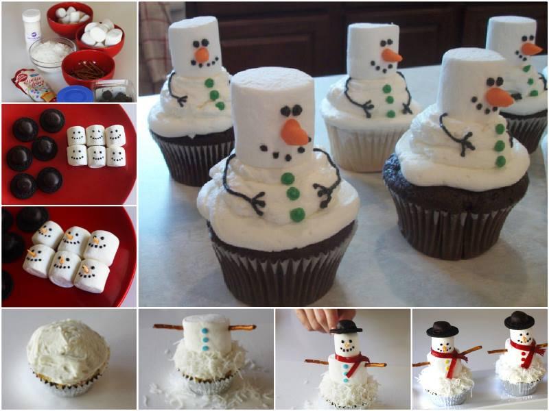 Snowman Rice Krispie Cakes