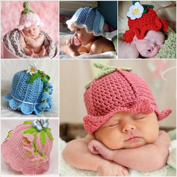 Crochet Baby Bluebell Hats