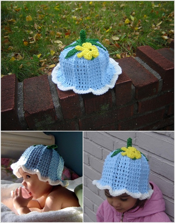 DIY Crochet Adorable Baby Bluebell Hats