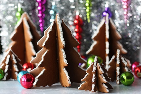 3D Christmas Tree Gingerbread Cookies