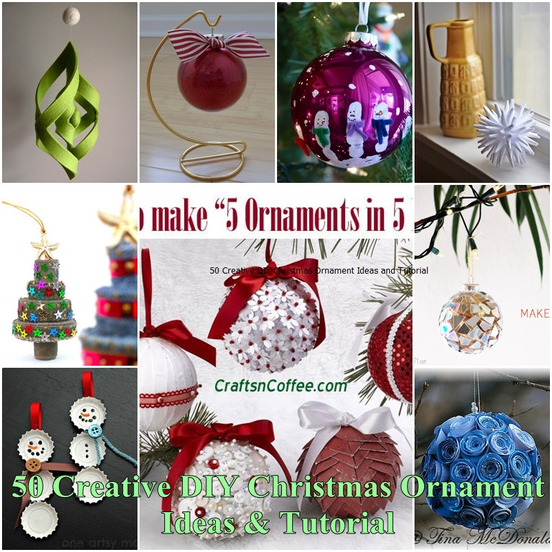 50 creative diy christmas ornament ideas and tutorial for Creative christmas ornaments homemade