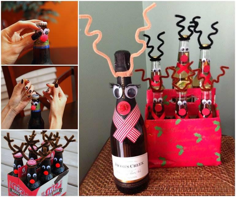 Soda In Christmas Tree Water: DIY Christmas Reindeer Gift Bottles