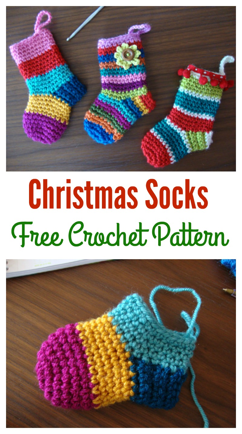 Christmas Socks Free Crochet Pattern