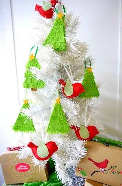 Christmas Tree Pinata Ornaments