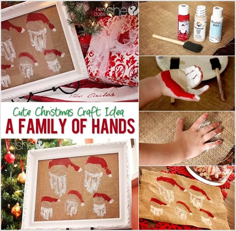 Creative-Ideas-DIY-Family-of-Hand-Print-Santas