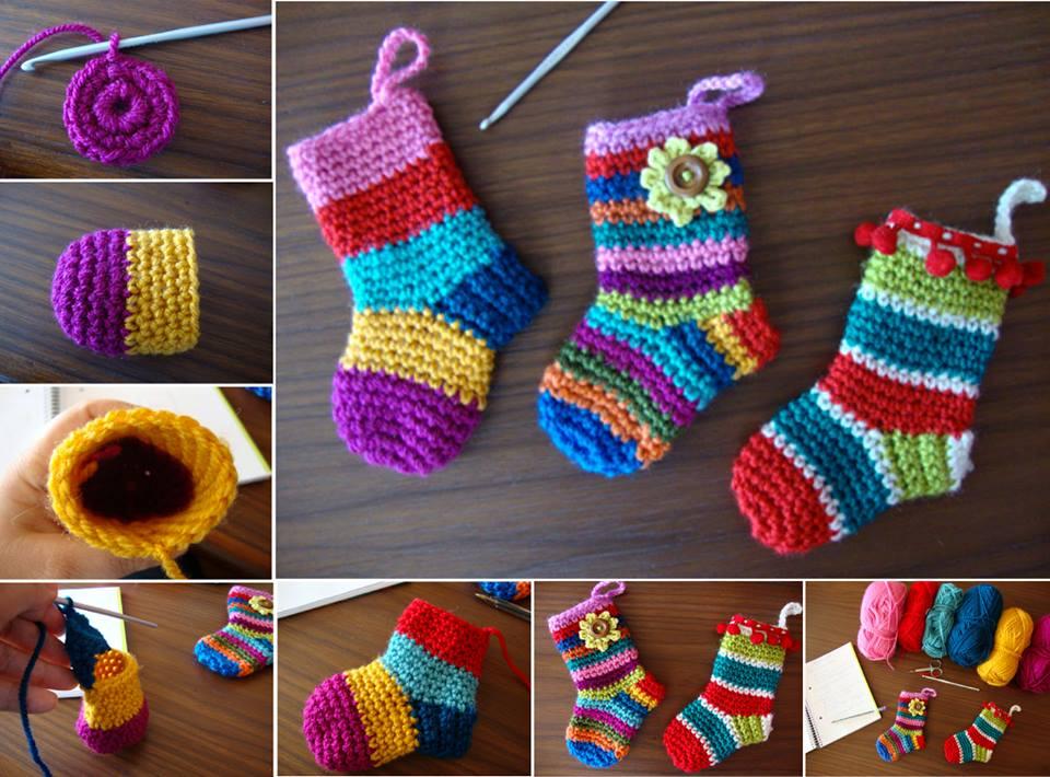 Crochet Christmas Socks Free Pattern Cool Creativities