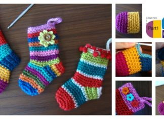 DIY Crochet Christmas Socks with Free Pattern