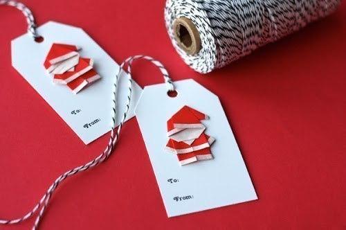 DIY Cute Origami Santa-5