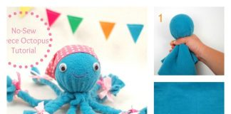 DIY No-Sew Fleece Octopus Craft