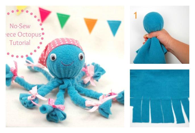 Diy No Sew Fleece Octopus Craft