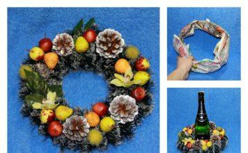 DIY Pretty Christmas Wreath with Newspaper