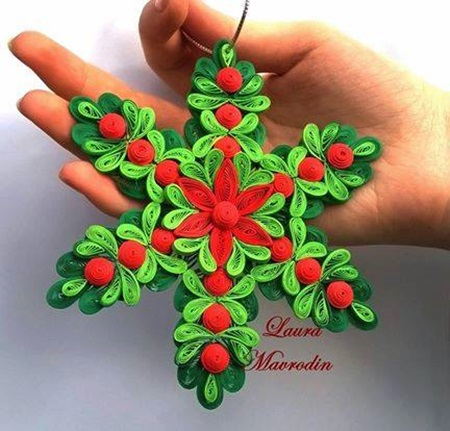 DIY Quilling Christmas Decoration -1