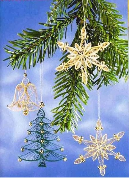 DIY Quilling Christmas Decoration -10