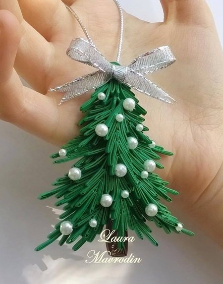 DIY Quilling Christmas Decoration -2